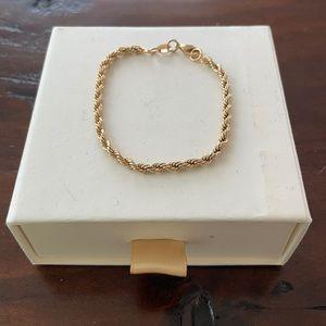 Gold rope bracelet